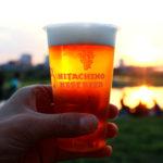 ふらり多摩川で、夕陽を見ながら二子玉川のクラフトビール「ふたこビール」を味わう
