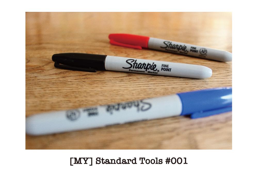 [MY] Standard Tools #001 : 限りなくアメリカっぽさを感じる「Sharpie」のマーカー