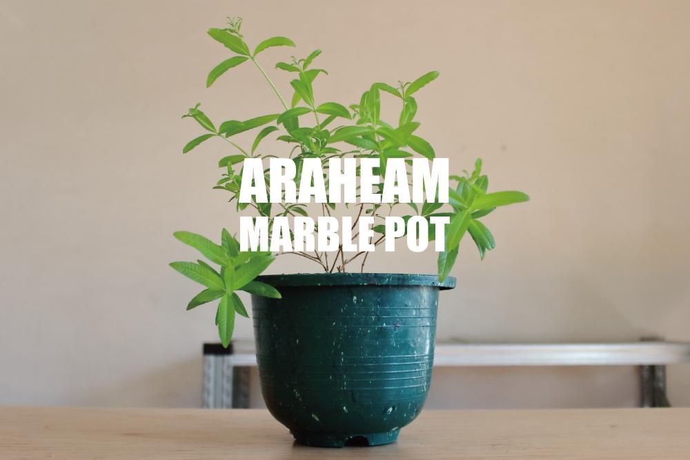 リサイクルプラスチックを使用したAraheam(アラヘアム)の植木鉢「マーブル・ポット」