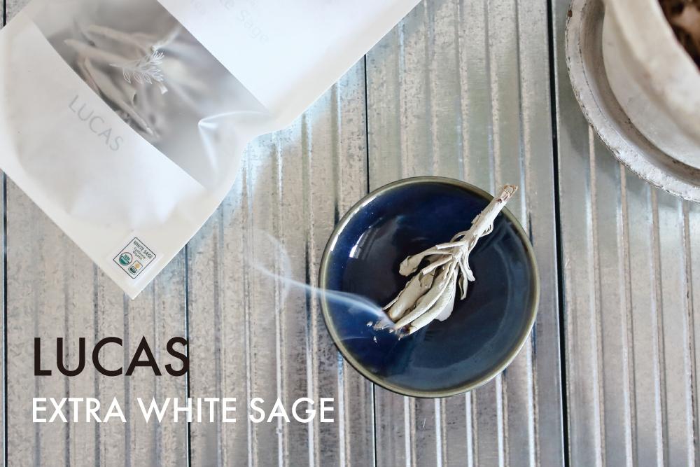 エクストラな煙と香り。LUCASのホワイトセージ