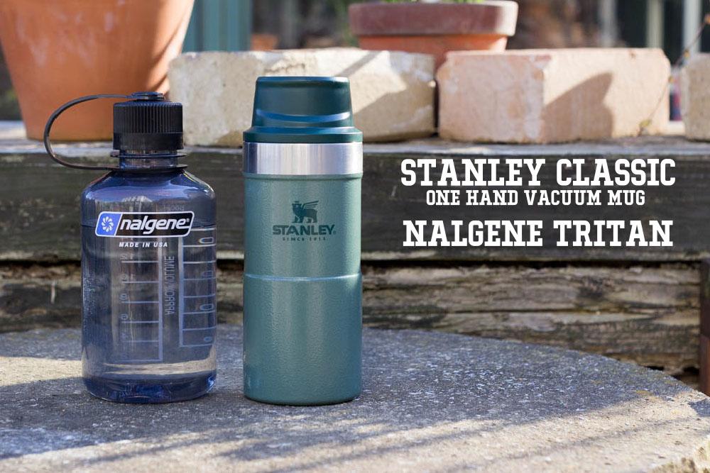 スタンレー クラシック「ONE HAND VACUUM MUG」とナルゲン「TRITAN」。水筒(ボトル)を2個持ちすること
